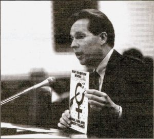 Dr. Wheeler testifying before the House Appropriations Subcommittee in 1996.