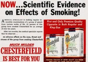 1950s cigarette ad.