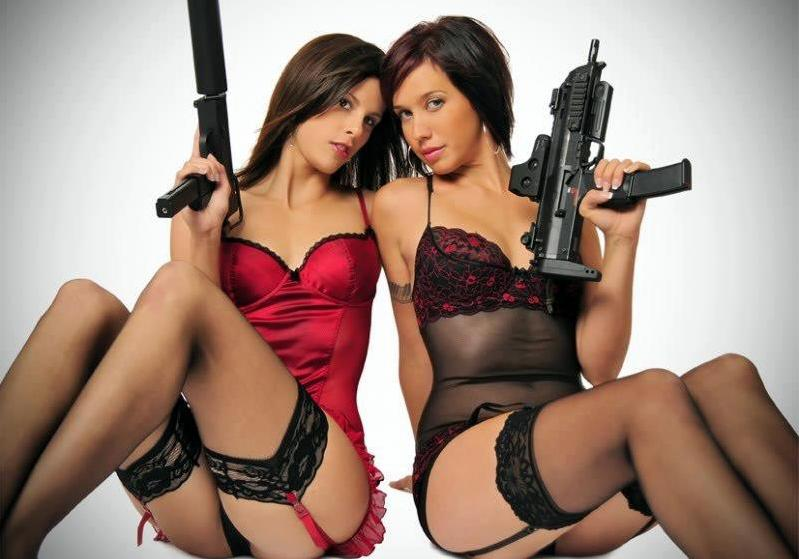 Sexy girls with guns