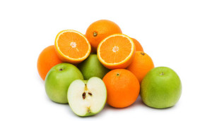 Apple and oranges. (From: citrusjuicemaker.com)