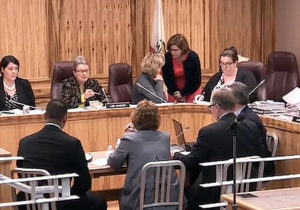 Senator Sen. Hancock cuts off Dr. Wheeler's testimony.