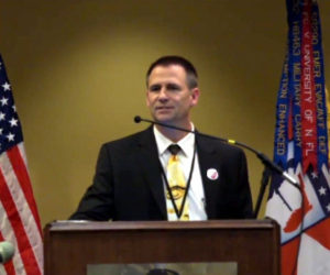 Dr. Sean Brodale speaking at the 2016 Gun Rights Policy Conference.